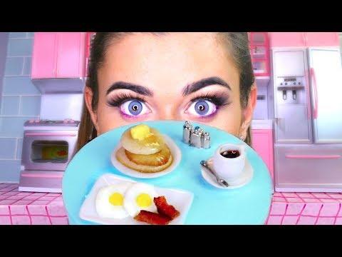 Tiny Food Challenge: Mini Pancakes and Eggs!