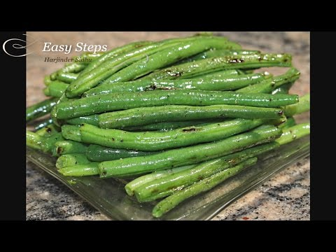 How to cook Green Beans | Spring Beans | Pan Roasted  String Beans | Stir Fry Snap Beans