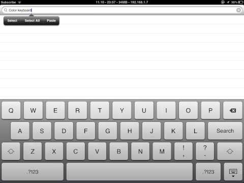 How to change keyboard color.(iPad,iPhone,iPod touch)