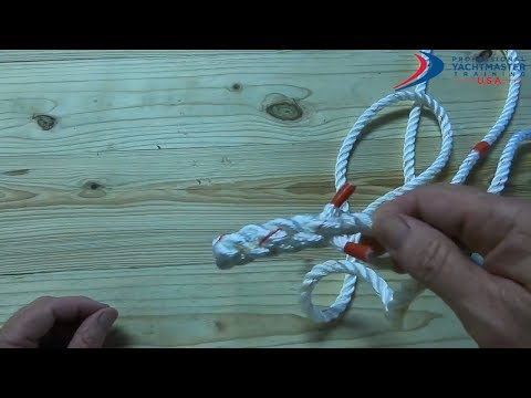 How to Tie a  Back Splice / Crown Splice ⎸Tutorial - Professional Yachtmaster Training USA