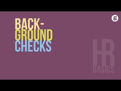 HR Basics: Background Checks