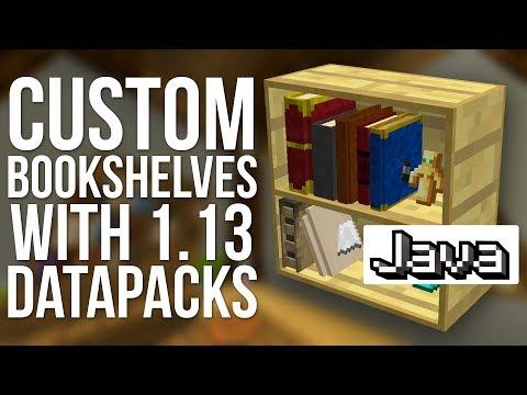 How To Make Custom Bookshelves In Minecraft