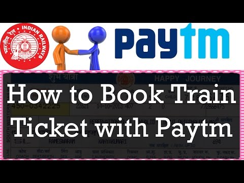 How to book train tickets online in india in hindi with paytm
