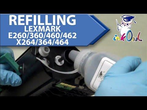 How to Refill Lexmark E260, E360, E460, E462, X264, X364, X464