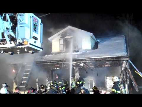 M-LFD responds mutual aid to New Hyde Park FD Signal 10