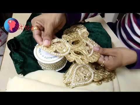 How to make designer saree || How to make our own designer saree || Designer saree ||