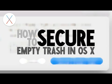 How to Secure Empty Trash in Mac OS X