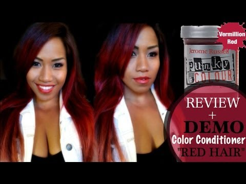 How to get Red Hair Easy + DEMO with Punky Colour by Jerome Russell
