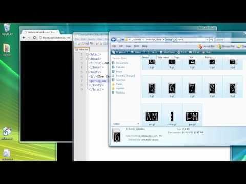 Javascript Clock tutorial part 1