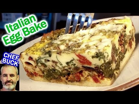 Italian Egg Bake Recipe ...it's like a vegetable lasagna!