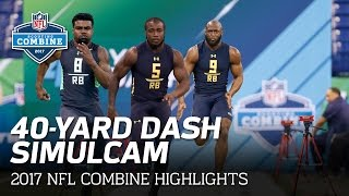 40-Yard Dash SimulCam Highlights: Ezekiel Elliott vs. Fournette vs. Cook & More | NFL