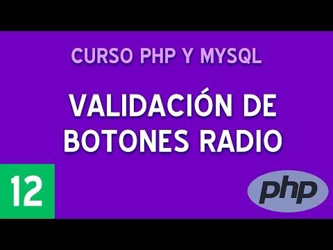 Validar radio buttons en formularios   Curso PHP y MySQL #12