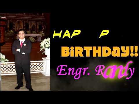 Happy Birthday Sir Randy