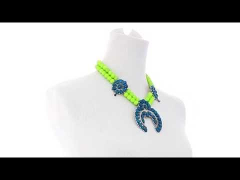 Gypsy SOULE Squash Blossom Necklace SKU:8306224