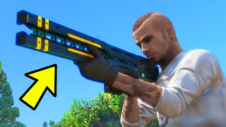 HOW TO GET THE RAILGUN IN GTA 5 ONLINE! (GTA 5 Glitches & Tricks)
