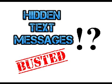 How to find hidden texts on someone elses iphone.