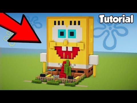 Minecraft: How to live Inside SpongeBob - House Tutorial 2018