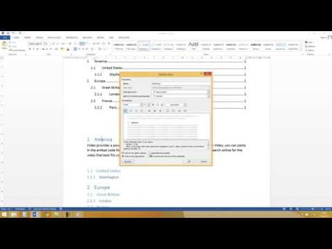 Word 2013, 2010: creating a Table Of Contents  - Tutorial [HD, Numbering, HOW TO]