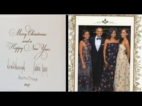 White House Releases Trump's First Christmas Card As President, 1 Huge Difference from Obama's Card