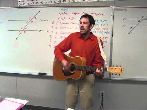 Algebra Man:  Parallel Lines Cut by a Transversal - Classroom Performance