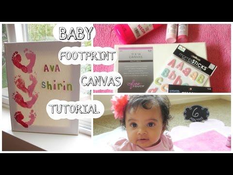 Baby Footprint Canvas Tutorial