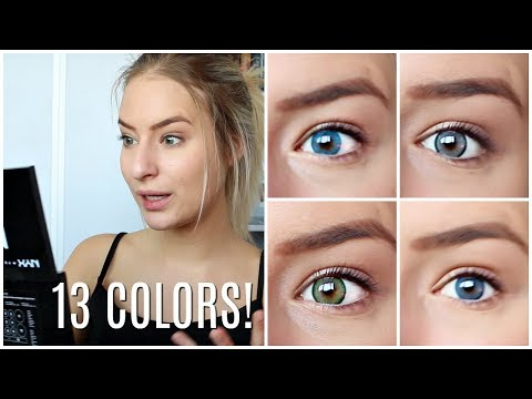 Trying On 13 Color Lenses on DARK EYES !!!