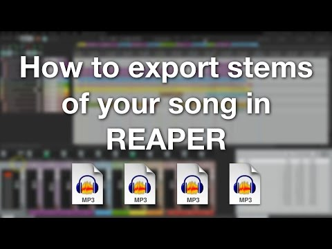 How to export stems of your song in REAPER