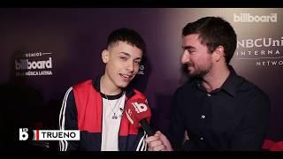 Trueno en el warm up de los Latin Billboard Music Awards en Buenos Aires