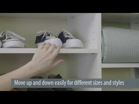 Closet Storage Idea - Slanted Shoe Shelves