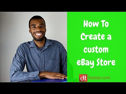 eBay Store Design Tutorial | How To Create Custom Graphics for an eBay Store
