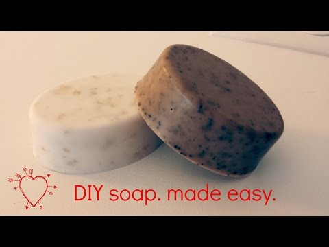 Vanilla Coffee Soap DIY easy