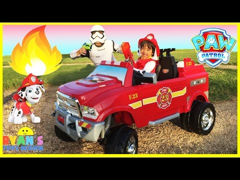 FIRE TRUCK FOR KIDS POWER WHEELS RIDE ON