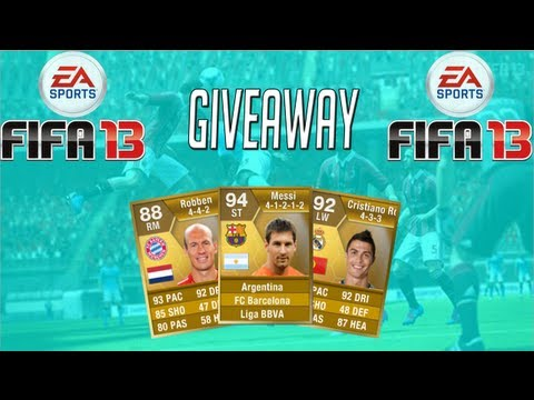 FIFA 13| INSANE GIVEAWAY-  INCLUDING TOTW, TOTS + TWO 87'S