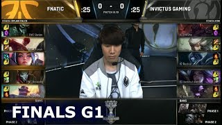 FNC vs IG Game 1 | Grand Final S8 LoL Worlds 2018 | Fnatic vs Invictus Gaming G1