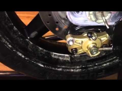 Tip on bleeding the rear brakes on a Gsxr 600