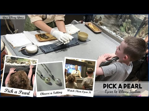 Pick a Pearl at Walt Disney World - Epcot & Disney Springs - Pearl Factory - Pick an Oyster