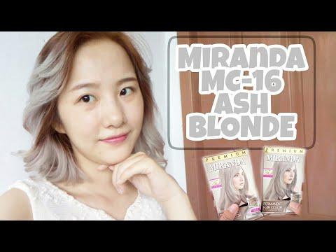 New!! Miranda MC-16 Ash Blonde | Cara Cat Rambut Ash Blonde (Silver/Grey/Platinum) | Tutorial Review