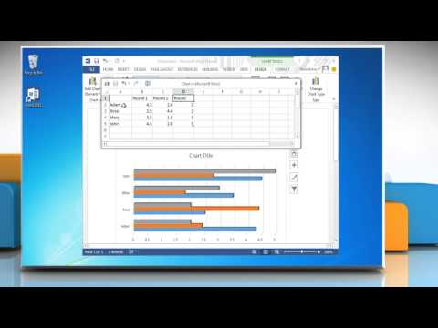 How to make a bar graph in Word 2013