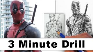 How To Draw Deadpool In 3 Minutes