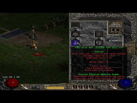 Diablo 2 - Part 1: Druid lets play go into blood moor to kill zombies