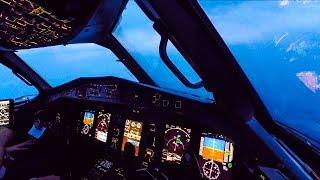 Turbulent Bad Weather Cockpit Landing - ATR 72-600