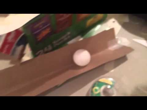 Cardboard ball roller