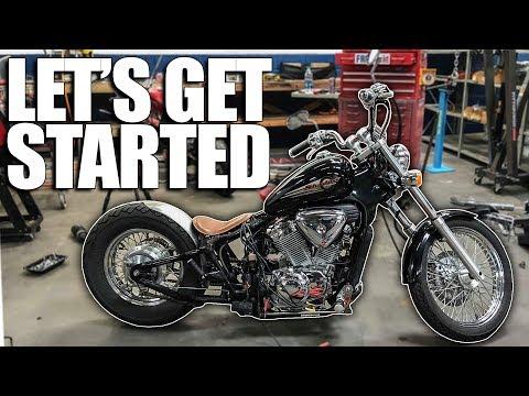 Disassembly & Design - Honda Shadow Bobber Build | Ep  1