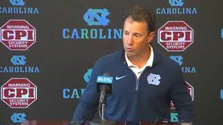 UNC Football: Larry Fedora Weekly Press Conference - 10/16