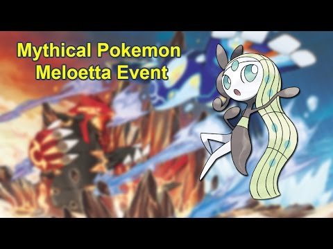 Mythical Pokemon Meloetta Distribution Event