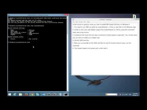 Enable Wifi Hotspot on Windows 8 and 8 1