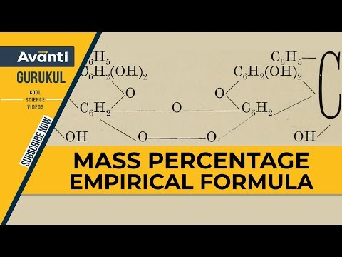 Mass Percentage Empirical Formula | Basic concepts of chemistry | Chemistry | IIT JEE | Class 11