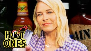Download Chelsea Handler Goes Off the Rails While Eating Spicy Wings | Hot Ones Video