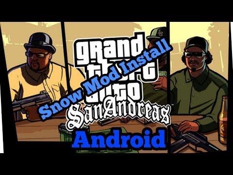 Gta sa android snow mod install ( no android nougat 7.0)