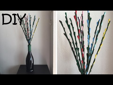 DIY Flower and Vase/ How to Recycled Your Old Umbrella  #60